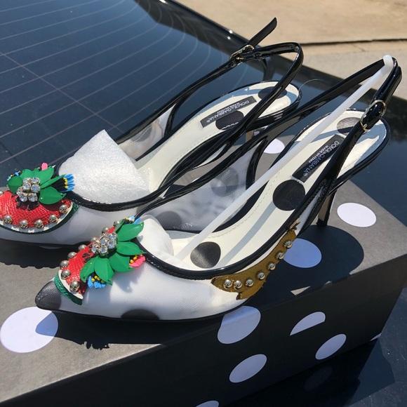 39e75a213c5 Dolce   Gabbana Shoes - Dolce   Gabbana Fruit embellished kitten heels